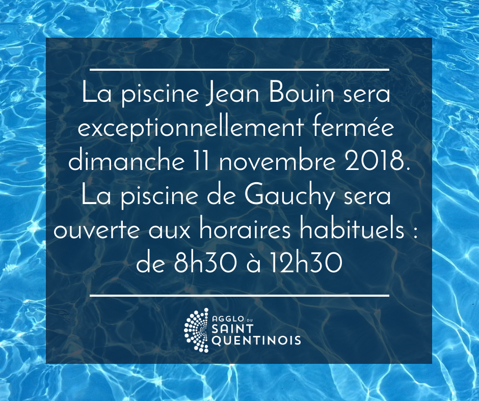 Fermeture De La Piscine Jean Bouin Le 11 Novembre 2018