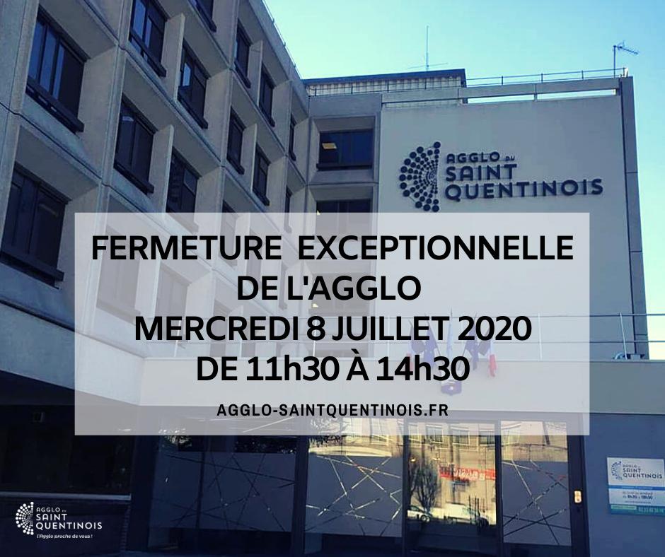 L'accueil de l'@AggloStQuentin le service du droit des sols ainsi que l'accueil de la gestion des abonnés seront exceptionnellement fermés de 11h30 à 14h30 ce 8 juillet agglo-saintquentinois.fr/actualites-109…