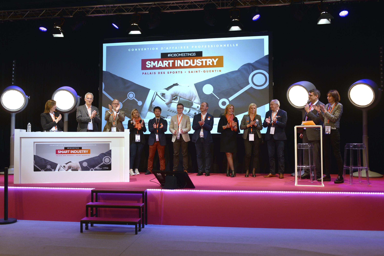 Merci à tous pour votre participation à la 3ème édition de la convention d'affaires Smart Industry ! Vous avez été 750 visiteurs, 48 exposants et 25 intervenants ! A l'année prochaine pour un nouveau rendez-vous #Robomeetings agglo-saintquentinois.fr/actualites-109…